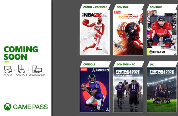 Próximamente en Xbox Game Pass: NBA 2K21, Football Manager 2021 y más